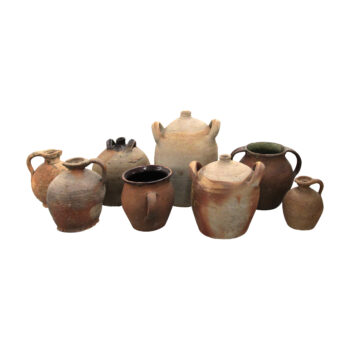 A set of 8 terracotta vessels, French 19th and 20th century