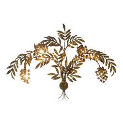 Hans Kogl gilt metal wisteria wall light, German 1960's