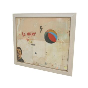LA MUJER Very Large Abstract Collage by Artist Huw Griffith