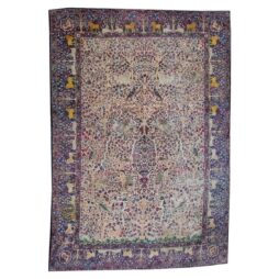 Rare Persian Kerman Tree of Life design Carpet