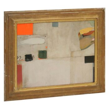 FIELDWORK XV  Abstract Collage  by Artist Huw Griffith