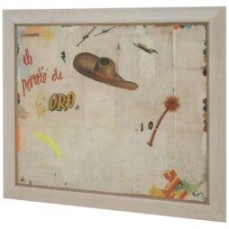 Large Decollage EL PERDIO DE BORO By Artist Huw Griffith