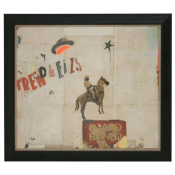 BRONCO BIANCO Large Abstract Collage by Artist Huw Griffith
