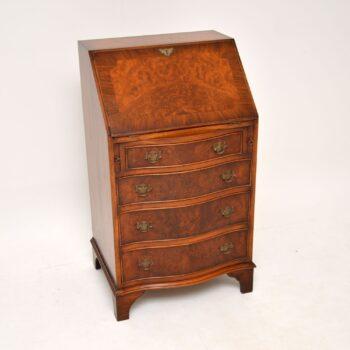 Antique Georgian Style Burr Walnut Bureau