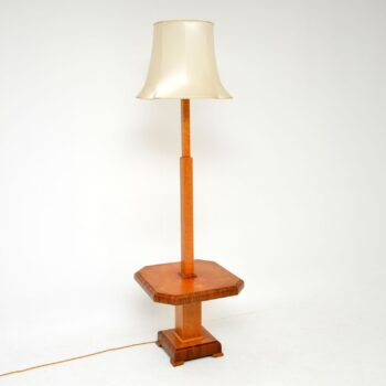 1920's Art Deco Walnut & Maple Lamp / Side Table