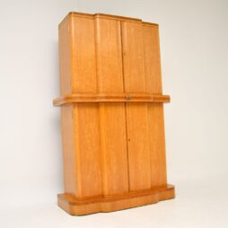 Art Deco 1920's Burr Maple & Walnut Cocktail Cabinet