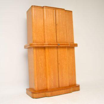 Art Deco 1920's Burr Maple & Walnut Cocktail Cabinet