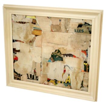 REMNANTS 15 Medium Abstract Collage by Artist Huw Griffith