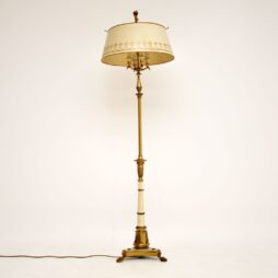 Antique French Tole Floor Lamp & Shade