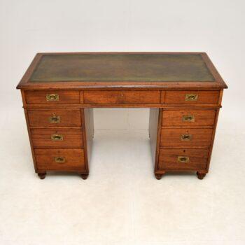 Antique Mahogany Military Campaign Desk