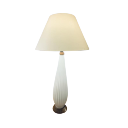ALFREDO BARBINI STYLE RIBBED GLASS TABLE LAMP