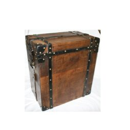 Antique Oak Silver Chest with Padlock