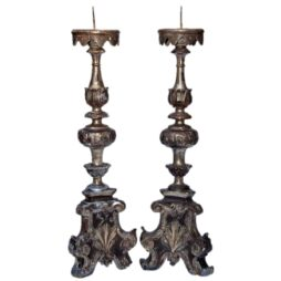 Pair of 18th Century Italian Candlesticks