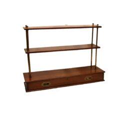Victorian Mahogany Campaign Bookcase