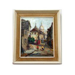 Sacre-Coeur Montmartre Oil on Canvas by D Barret