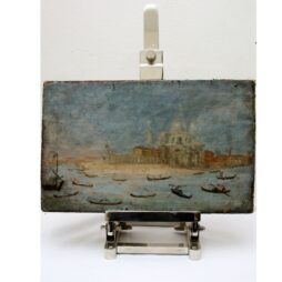 Old Customs House Grand canal, Venice, Oil on Canvas