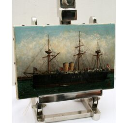 British Coaster Oil on Canvas