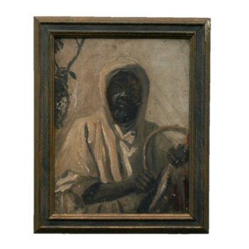 Portrait of a North African man, Oil on Panel
