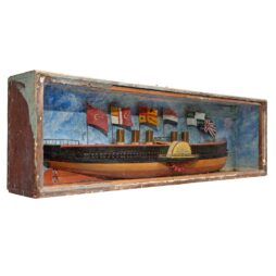 VICTORIAN HALF HULL MODEL OF S.S. GREAT EASTERN