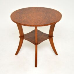 Art Deco Figured Walnut Occasional Table