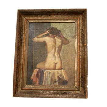 19th Century Female Nude Oil Painting