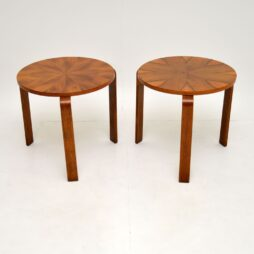 Pair of  Walnut Bentwood Stacking  Side Tables