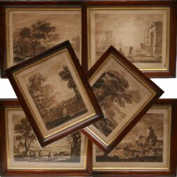 Set of Six Sepia Engravings Boyddell