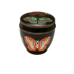 Buterlfly Decorated  Cloisonne Enamel Container