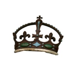Early Victorian Bronze and Painted Crown