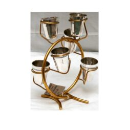 Silver Plated Sprit Cups on Branch Holder