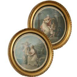 Pair of Batolozzi Stipple Engravings
