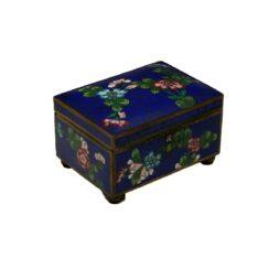 Antique Blue Chinese Cloisonne Box
