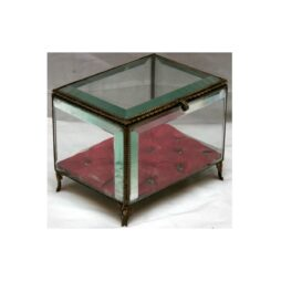 Antique French Bevelled Glass and Gilt Casket