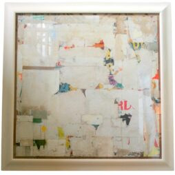 Large Decollage REMNANTS By Artist Huw Griffith